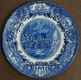 Georgia Trustees and Tomochichi Plate